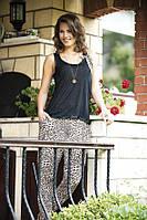 Леопардовая женская пижама