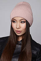 Женская шапочка с отворотом Sammy Flip Uni светлая пудра