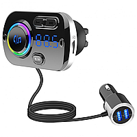 ФМ трансмиттер Onever A49 Car MP3 Player Bluetooth 5.0 Quick Charge 3.0