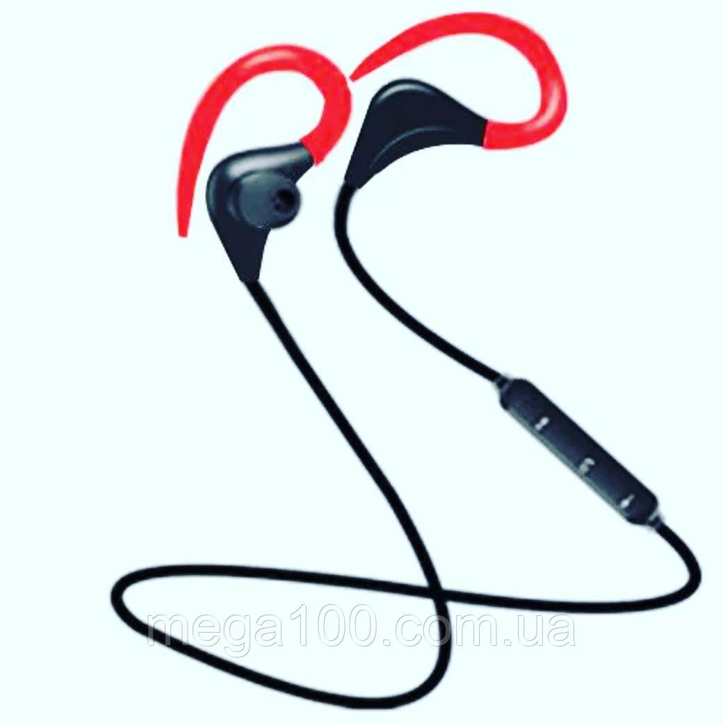 Беспроводные спортивные Bluetooth наушники, гарнитура красный цвет