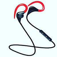 Беспроводные спортивные Bluetooth наушники, красный цвет