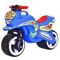 "Каталка мотоцикл ""Мото Байк"" синий, Kinderway (11-006 СИНИЙ), фото 1"