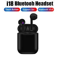 I18 True Wireless Earphones TWS беспроводные наушники 5.0 Bluetooth Цвет ЧЕРНЫЙ Сенсорные