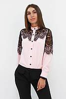 S, M, L, XL / Романтична жіноча блузка з мереживом Gilmor, персик