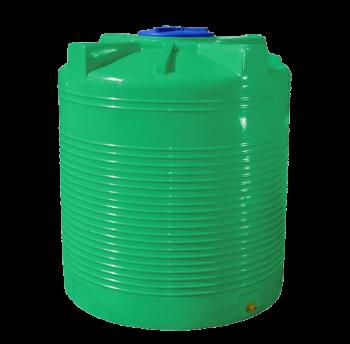Емкость 1500 л вертикальная, двухслойная зеленая