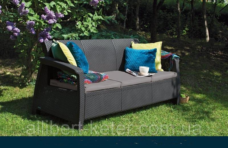 Allibert Corfu Love Seat Max садові меблі з штучного ротанга