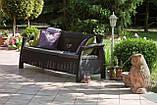 Allibert Corfu Love Seat Max садові меблі з штучного ротанга, фото 3