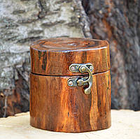 Шкатулка из дерева, для колец и бижутерии, авторская ручная работа в стиле loft