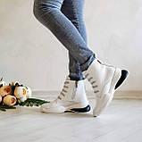 Женские зимние кожаные ботинки спортивного стиля (белый), фото 9