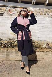 Женская кашемировое пальто Карманы Букле 05049