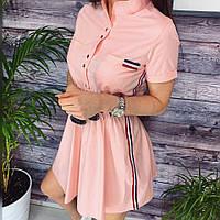 Женское летнее платье с лампасами