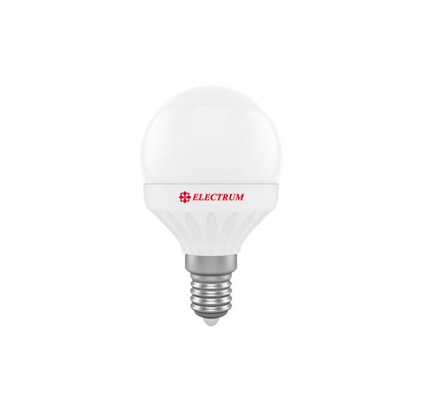 Лампа светодиодная D45 4W Е14 4000К 340 Lm ELECTRUM