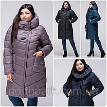 Стеганное зимове жіноче пальто VS 192, розмір 52-54