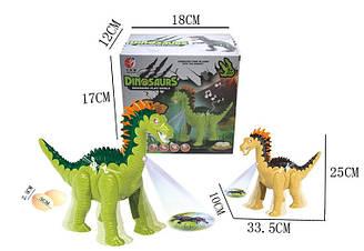 Інтерактивний динозавр KQX-36 (60шт/2) 2 види, батар., світ., звук, в кор. 17*18*12 см