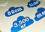 Топперы метрика на торт, Топпер метрика облака с данными о рождении, топперы на торт на рождение,Fortune3D, фото 3