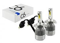 Комплект автомобильных LED ламп C6 H4 5538