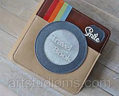 TRAVELbook (тревелбук) - фото альбом ручной работы. Цвет крафт и голубой