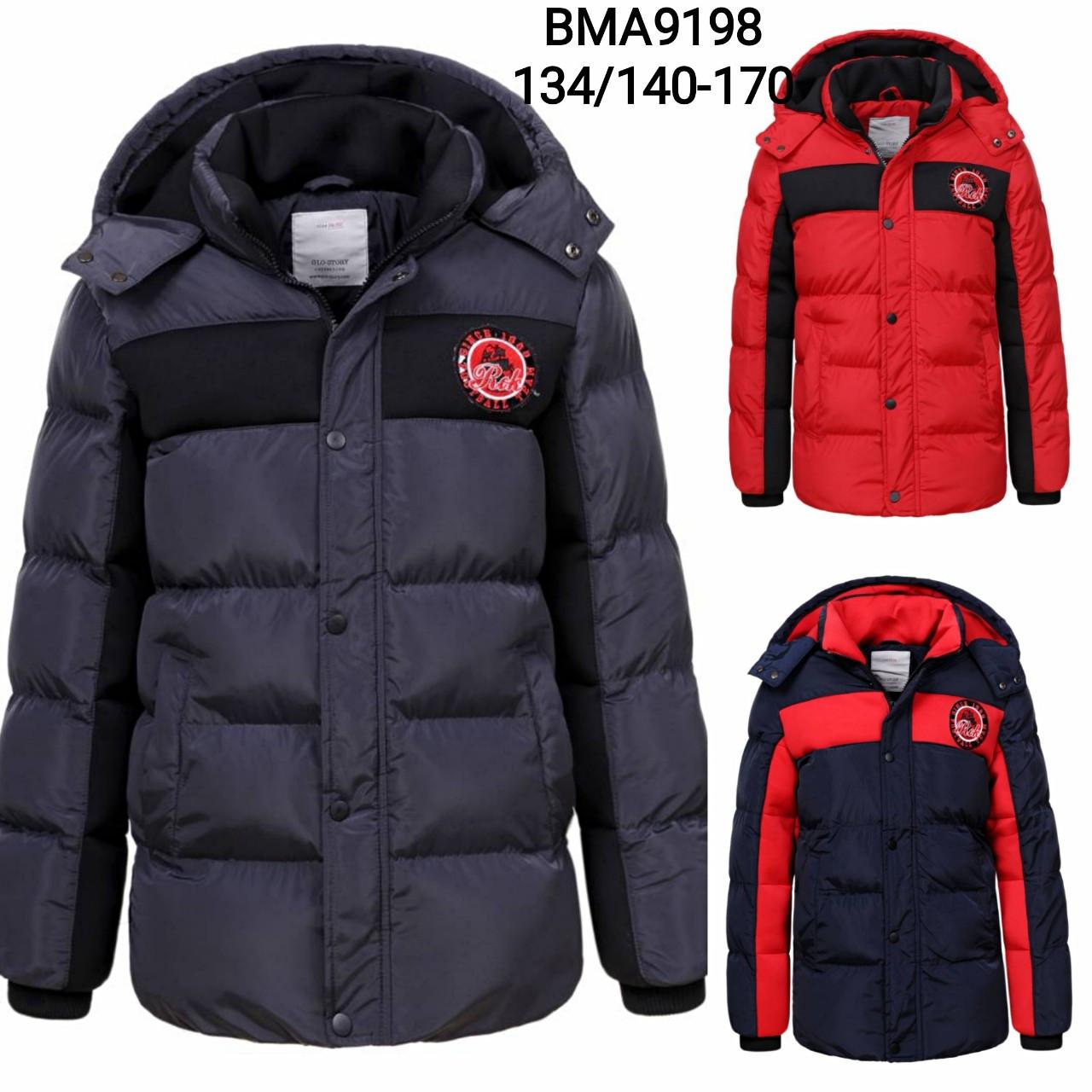 Зимние куртки для мальчиков оптом, размеры 134/140-170 см, Glo-story, BMA-9198