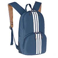 Рюкзак молодёжный Wallaby синий 33 х21х15 полиестр в 153син