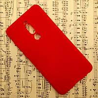 Силиконовый матовый чехол SMTT Candy для Meizu Note 8 (M8 Note) (Красный)