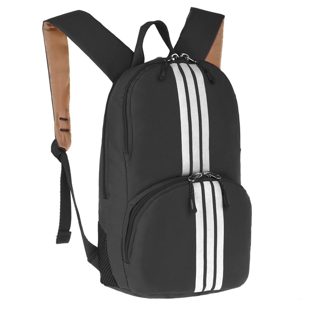 Рюкзак Wallaby молодёжный чёрный 33 х21х15 полиестр в 153ч