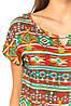 Яркая блузка с орнаментом (в расцветках 44-48), фото 6