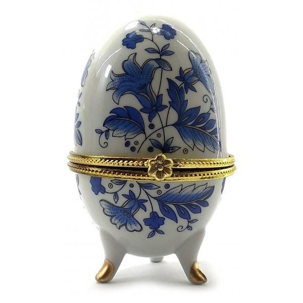Скринька на лапках Сині квіти Яйце