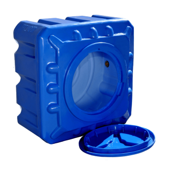 Емкость пластиковая 100 л квадратная (двухслойная)