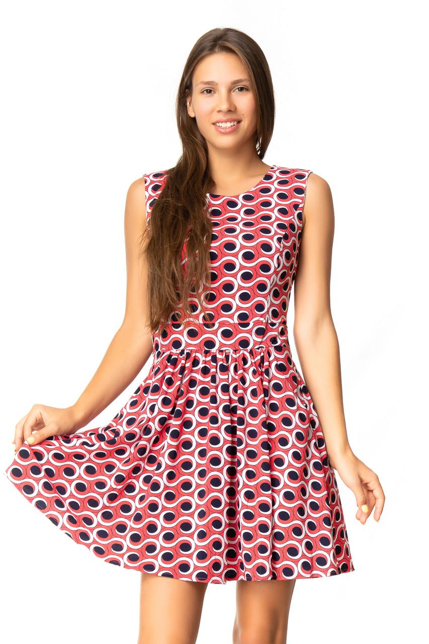 Приталенное платье с карманами (в расцветках 40-44)