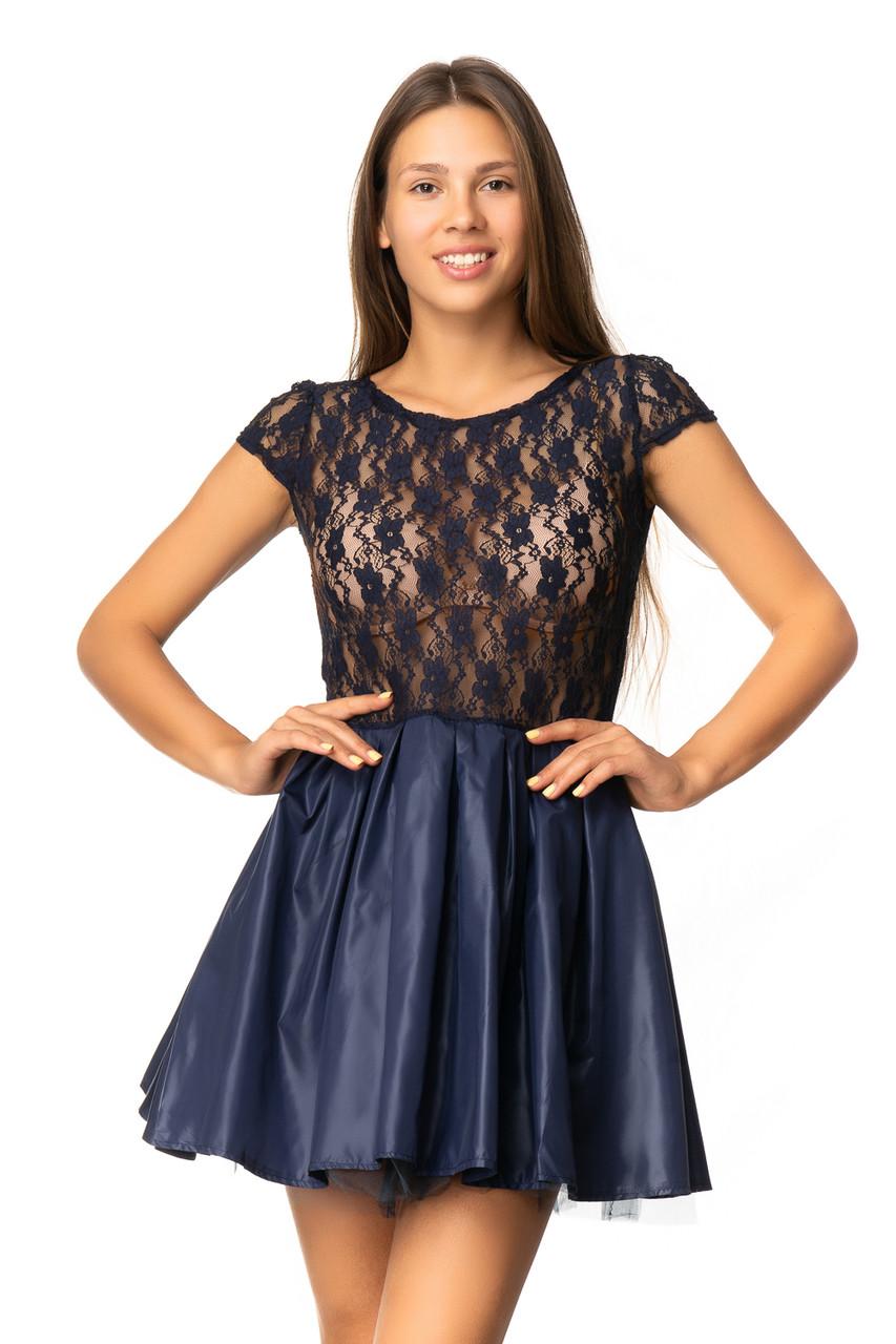 Нарядное платье с фатиновым подъюбником 40-46 (в расцветках)