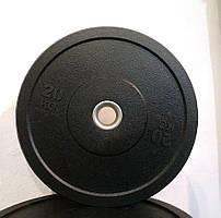 Резиновый (бамперный) диск для кроссфита 20 кг (Bumper plates)
