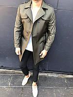 😜 Пальто-плащ - Мужское пальто-плащ цвета хаки
