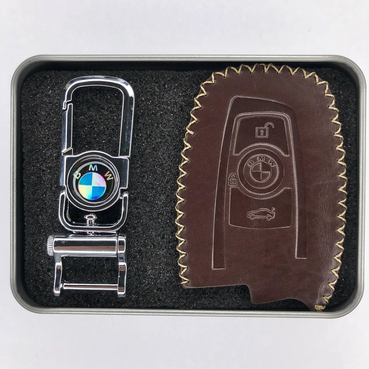 Кожаный чехол для ключа BMW 1,2,3,4,5,6,7,8,I3,I8,m1,m2,m3,m4,m5, m6,x1,x2,x3,x4,x5,x6,Z4,F10,15,20,30,48