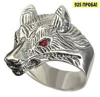 Серебряное мужское кольцо Волк