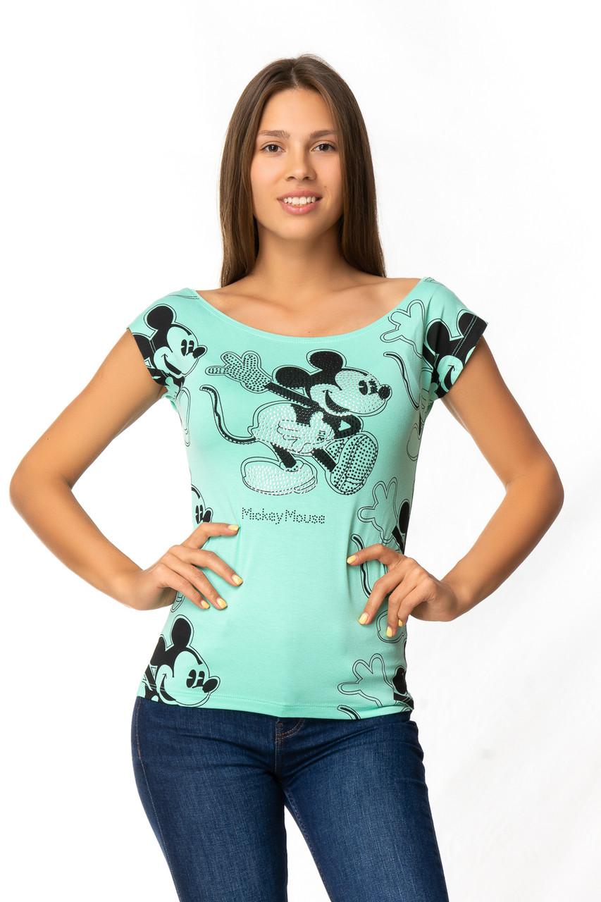 "Женские футболки ""Микки Маус"" (в расцветках 44-46)"