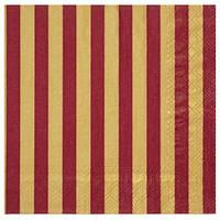 Салфетка Полосы золото с красным