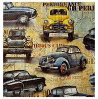 Салфетка Ретро автомобили коллаж 2-7252
