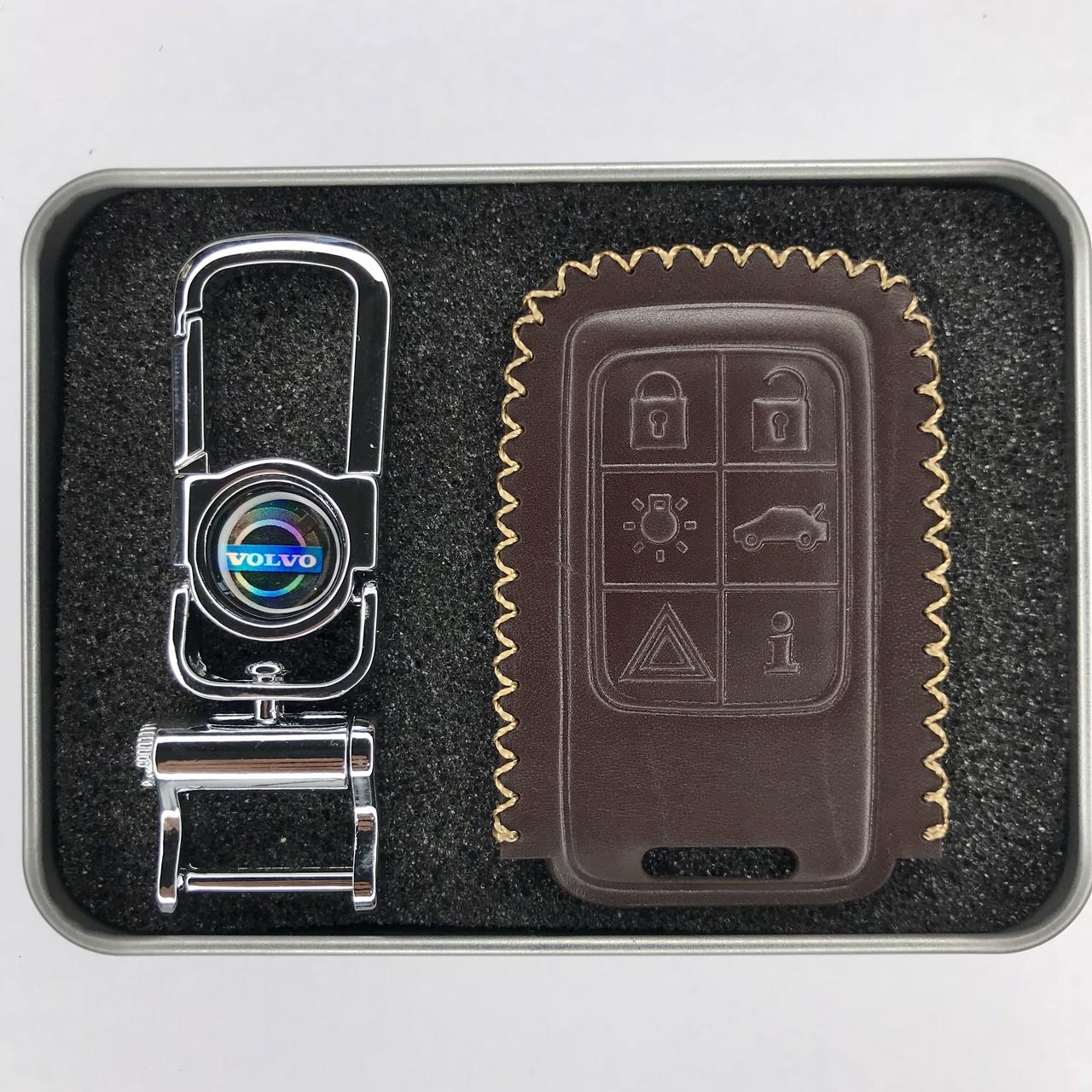 Чехол для ключа Volvo C30,C70,S40,S60,S80,S90,V40,V50, V60,V70,V90 Cross country,XC40,XC60,XC70,XC90