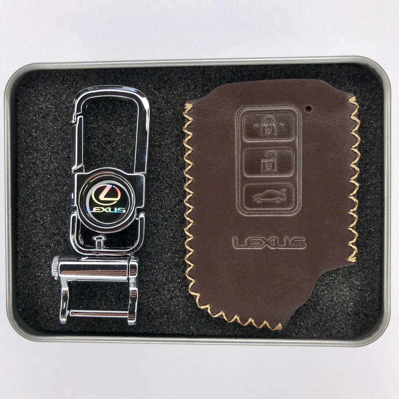 Чехол из тонкой телячьей кожи для ключа Lexus LS,GX 470,RC,IS,ES,GS,RX,LX,LC,SC,NX