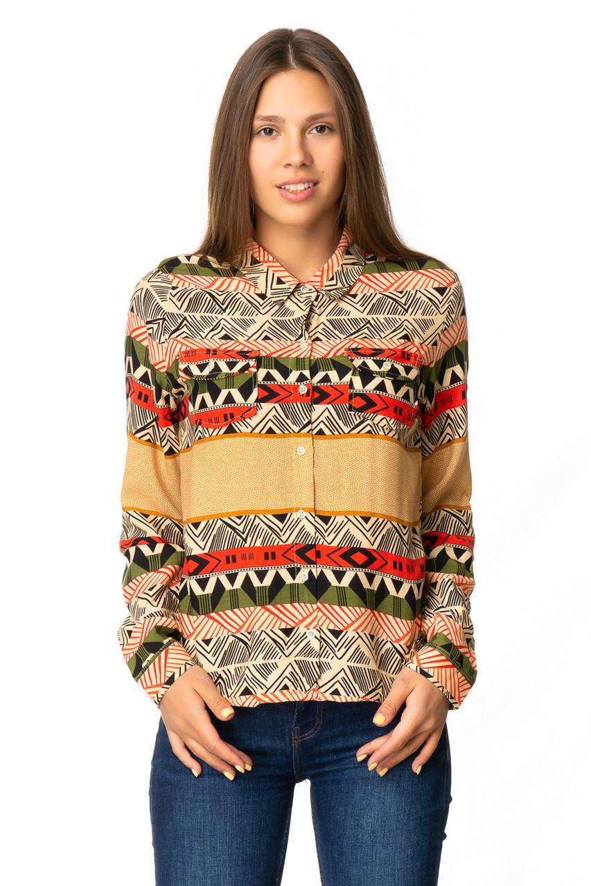Оригинальная женская рубашка с орнаментом 42-46