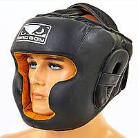Шлем боксерский с полной защитой кожаный BAD BOY VL-6622
