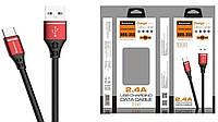Кабель USB/TYPE-C REDDAX RDX-355 RED (1 м)
