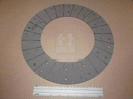 Накладка диска сцепления (феродо) МТЗ 50, 80, 82, 100 (сверленаяпод БЗТДиА) (Трибо). 70-1601138