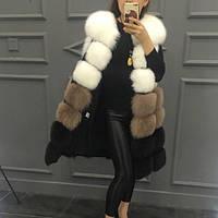 Женская меховая жилетка трёхцветная из искусственного меха Купить недорого в интернет-магазине Украина!