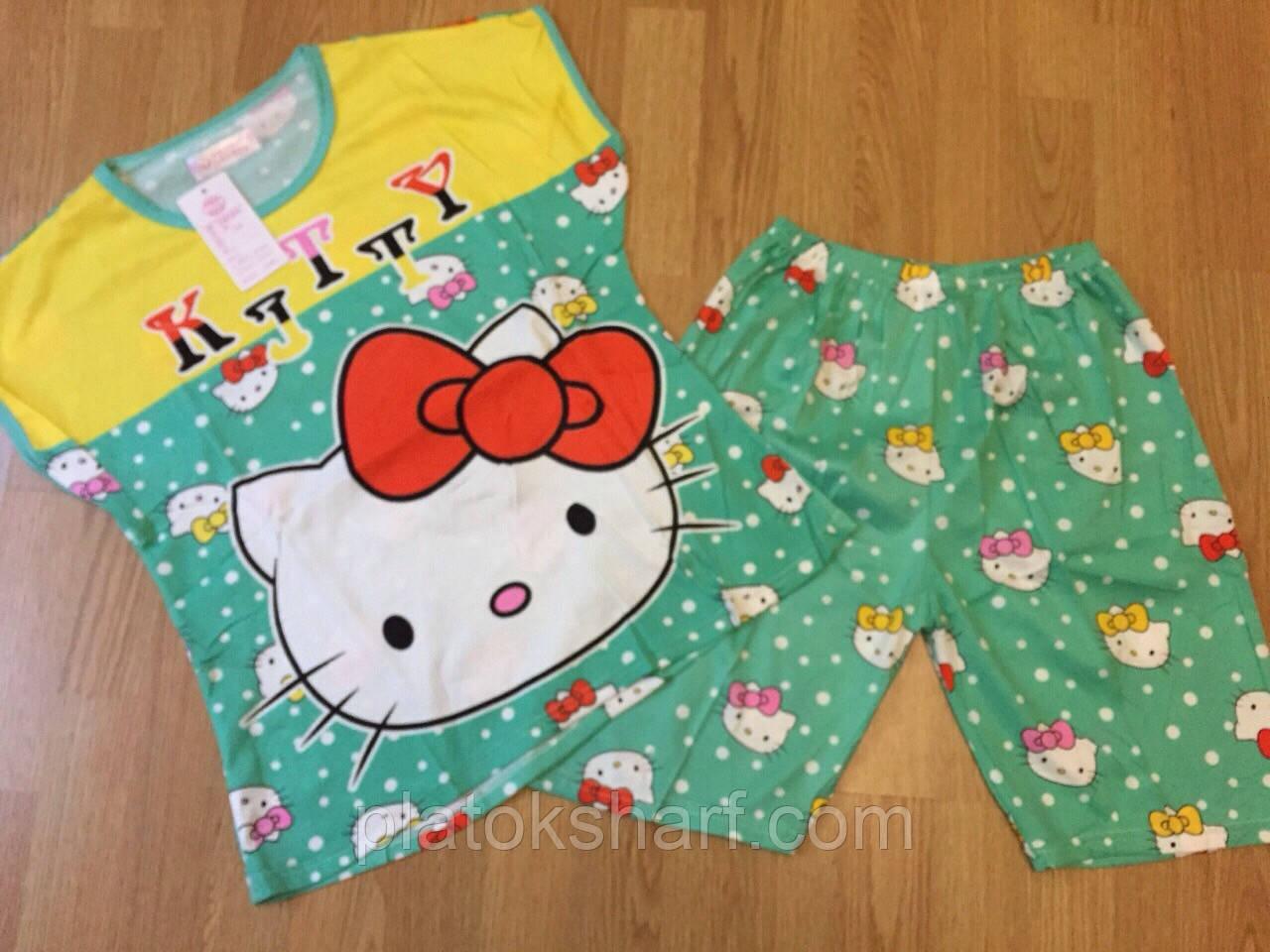 Комплект футболка и шорты 48-52 трикотаж прикольные