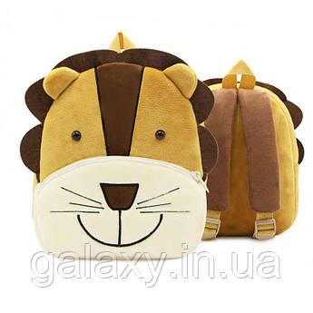 Рюкзак детский велюровый Лев на 3-5 лет в садик