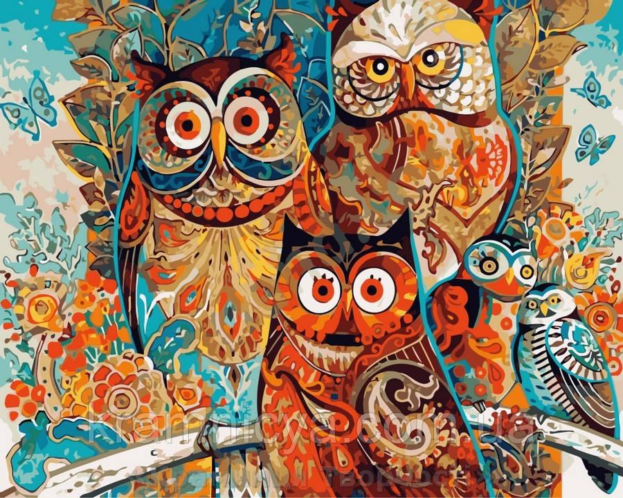 Картина по номерам Brushme 40х50 Волшебные совы (GX8849)