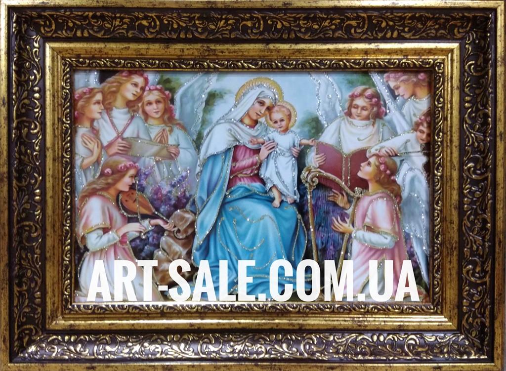 Икона Мария с ангелами