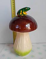 Садовая фигурка Гриб с лягушкой