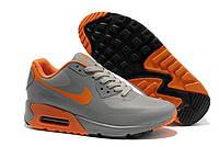 Кроссовки Nike Air Max 90 Hyperfuse grey-orange - 1159